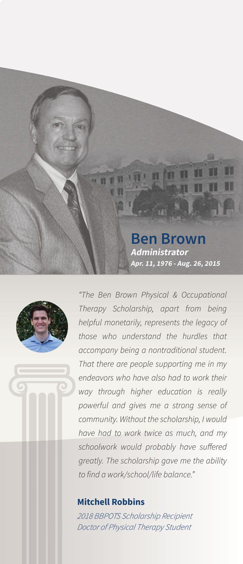 2018 Ben Brown Physical Occupational Therapy Scholarship Winner